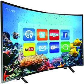 Nikai 43 Inch Full HD LED Smart Curved TV - Black, NTV4300CSLED