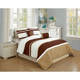carolin home linen 8pcs comforter sets- model: nova-01