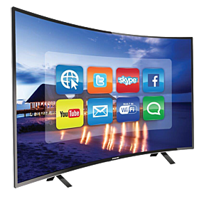 Nikai 40 Inch Full HD LED Smart Curved TV - Black, NTV4000CSLED