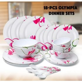 Olympia  18 PCs Melamine Dinner set