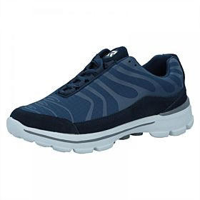 Response Canvas Mesh Walking Shoes for Men - Navy Blue