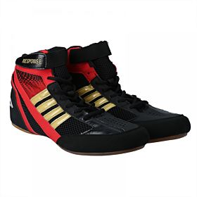RESPONSE Fitness Shoes for Men, Black & Red