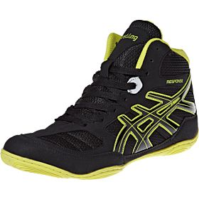 Response Lace Up Boots for Men, Black & Yellow