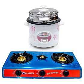 Gas Stove Automatic ignition  and  1.8 Liter Electric Rice Cooker 500 Watts with Food Steamer