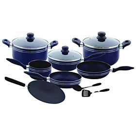 Royalford 12-Piece Cookware Set Blue RF5858