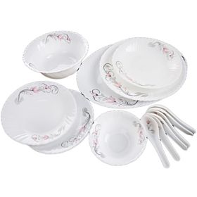 Royalford 33 Pcs Dinner Set White RF7869