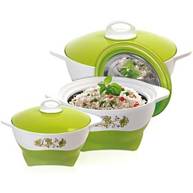 Royalford 3 Piece Plastic Insulated Hot Pot