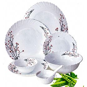 Royalford 40 Pcs Opal Ware Dinner Set - RF5037