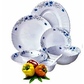 Royalford Opal Glassware 40 Pieces Dinner Set RF5035