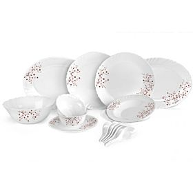 Royalford Opal Ware Dinner Set , 34 Pcs