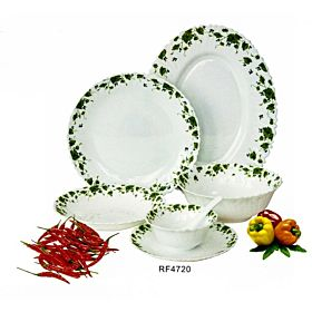 Royalford Opal Ware Spin 33 Pieces Dinner Set RF4720