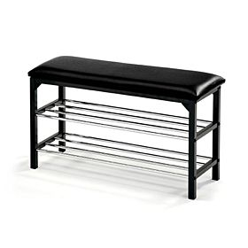 RoyalFord RF7710 2-in-1 Shoe Rack and Hallway Bench