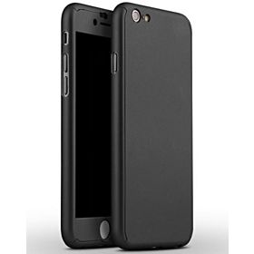 IPHONE 6/6S 360 DEGREE FULL COVER WITH TEMPERED GLASS SCREEN PROTECTOR - BLACK