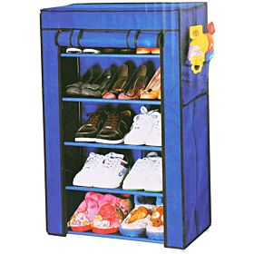 Fabric Shoe Rack, 5 Layers, Blue ,6588