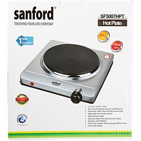 Sanford Single Chrome Finish Hot Plate, SF5007HP(3 Pin)