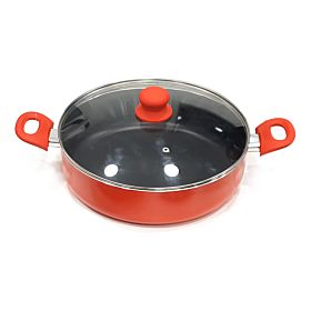Beefit High Quality Sauce Pan With Glass Lid Red 30 cm