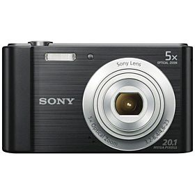 Sony Cyber-shot DSC-W800 20.1MP Digital Camera - Black/Silver
