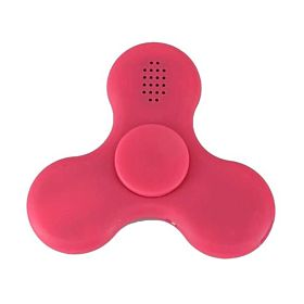 Bluetooth Speaker with LED Light Fidget Spinner for ADHD Stress Relief Pink