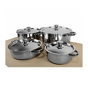 Epsilon Stainless Steel 8 Pcs Cookware Set, EN4016