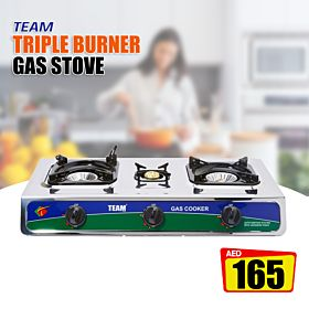 TEAM Triple Burner Gas stove TGC-132