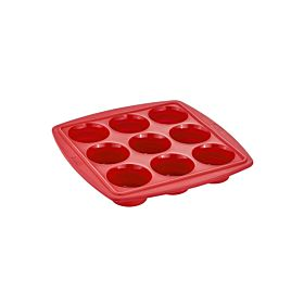 Tefal Proflex Collapsible 9-In-1 Muffin Mould Red