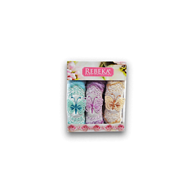 Rebeka embroidery towel 3pcs set gift box- turkey
