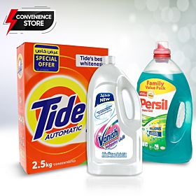 Tide 2.5 Kg, Vanish Liquid White Stain Remover , Persil Advanced Power Gel