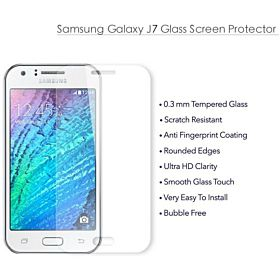 Tempered Glass Screen Protector Scratch Guard for Samsung Galaxy J7