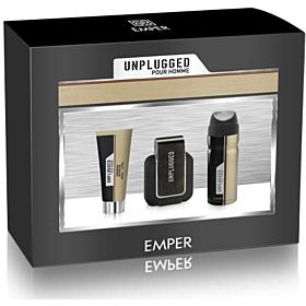 Unplugged Men by Emper, Gift Set - 3 Pieces