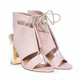 TRUFFLE Pink Heel Sandal For Women