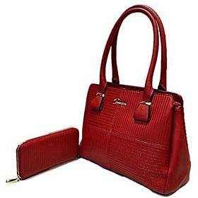 Susen Bag For Women,Dark Red - Handbags Sets