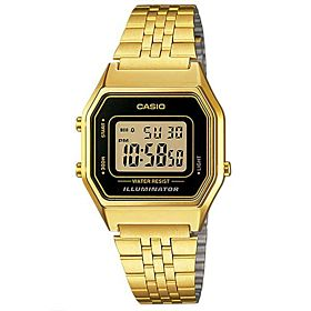 Casio Women's Digital Dial Stainless Steel Band Watch - LA680WGA-1D