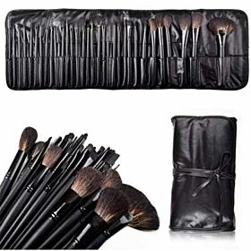 Niceeshop Professional Cosmetic Makeup Brush Leather Kit, 32-Piece