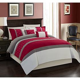 Carolin home linen 8 pcs comforter sets  Model: Venice-01