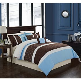 Carolin home linen 8 pcs comforter sets|Model: Venice 02