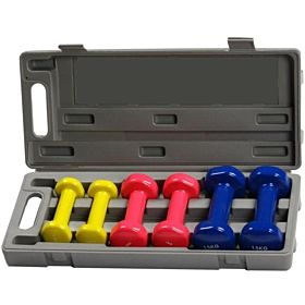 Vinyl Neoprene Dumbbell Set-6 Kgs With Box-Marshal Fitness