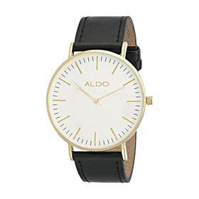 Aldo Serlin Women's Silver Dial Leather Band Watch - Serlin-98