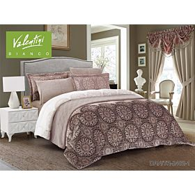 VALENTINI COMFORTER KING 6PC FLANNEL PRINTED