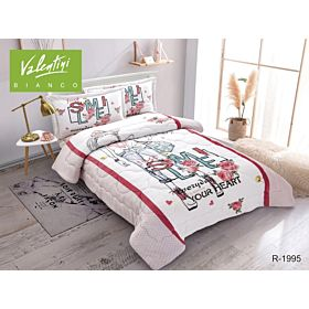 VALENTINI COMFORTER SINGLE 4PC FLANNEL PRINTED JUNIOR