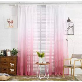 DEALS FOR LESS - Window Sheer Set of 2 Pieces, Ombre Pink