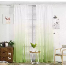 DEALS FOR LESS - Window Sheer Set of 2 Pieces, Ombre Green