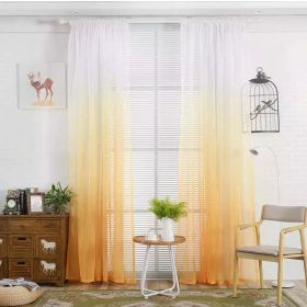 DEALS FOR LESS - Window Sheer Set of 2 Pieces, Ombre Gold
