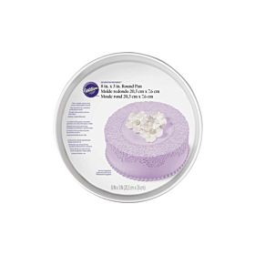 Wilton Decorator Preferred Round Pan Silver 8 x 3 inch
