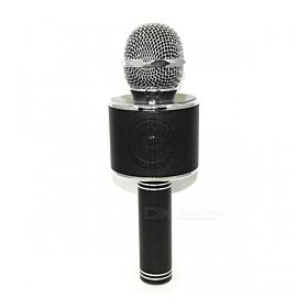 WS-858 Wireless Karaoke Handheld Microphone USB KTV Player Bluetooth -Black