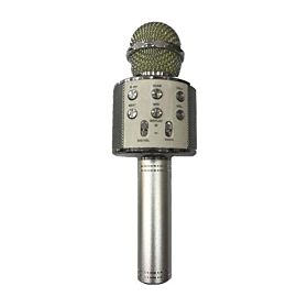 WS-858 Wireless Karaoke Handheld Microphone USB KTV Player Bluetooth -Silver