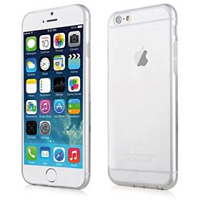iPhone 6 PLUS - Ultra Slim & Clear TPU Gel Case/Cover – Transparent White Color & Screen Protector