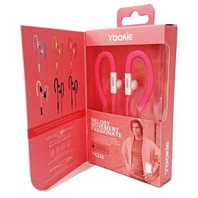 Yookie Yk220 Neckband Earphone for iPhone iPod Samsung LG Sony HTC MP3 MP4 - Purple