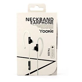 Yk220 Neckband Earphone for iPhone iPod Samsung LG Sony HTC MP3 MP4 - white