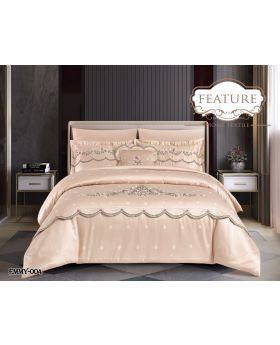 Feature Jacquard Comforter 7Pcs Set EMMY 4 -Camel
