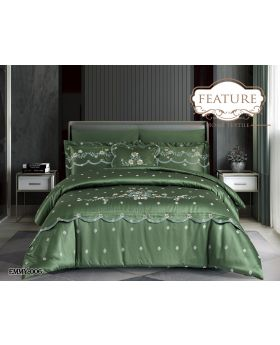 Feature Jacquard Comforter 7Pcs Set EMMY 6 -Green
